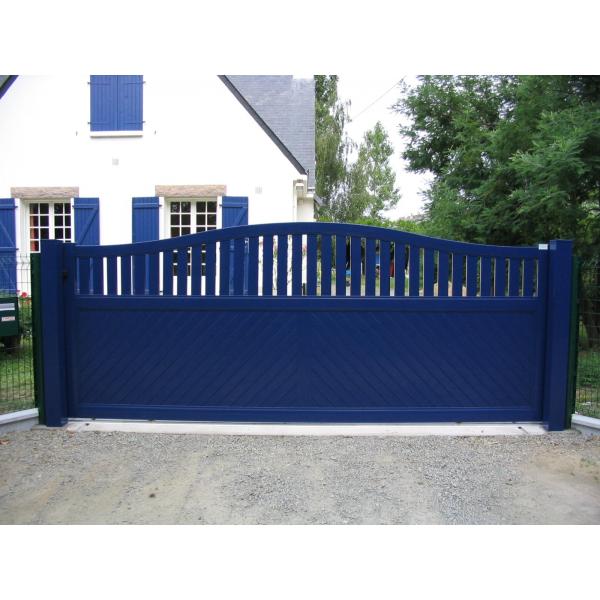 portail aluminium coulissant mjp portes et automatismes portails portes de garage. Black Bedroom Furniture Sets. Home Design Ideas
