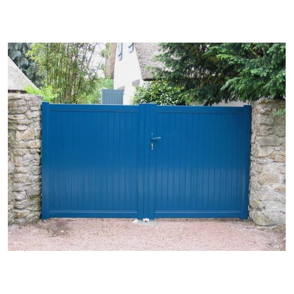 Portail aluminium 2 vantaux m60a mjp portes et - Portail 2 vantaux ...