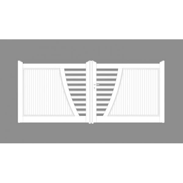 portail pvc 2 vantaux balkan mjp portes et automatismes portails portes de garage. Black Bedroom Furniture Sets. Home Design Ideas
