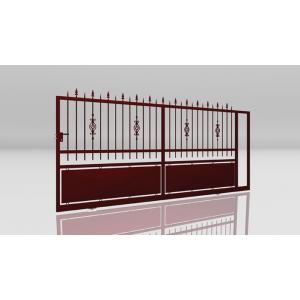Portail acier coulissant bastia mjp portes et automatismes portails portes de garage - Portail coulissant acier ...
